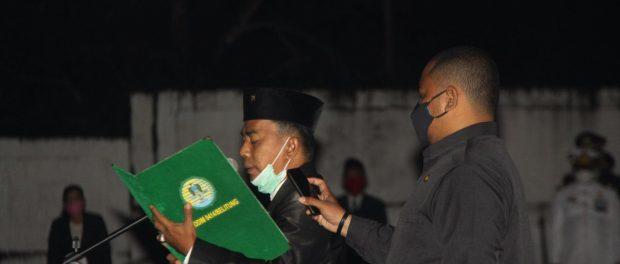 Ketua DPRD sebagai Inspektur Apel Kehormatan dan Renungan Suci